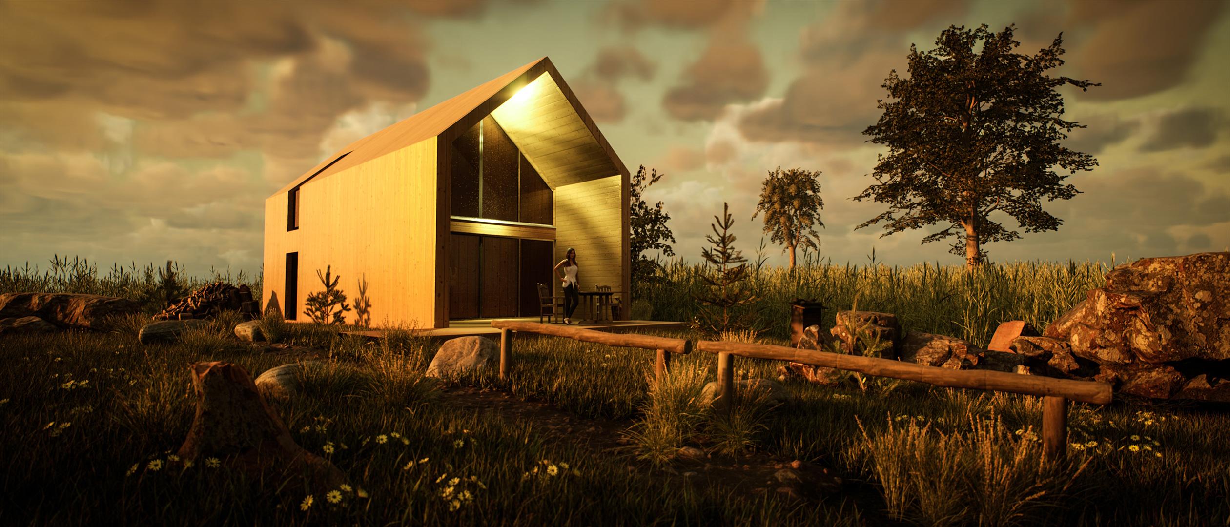 ⌂ Widokowy™ - domy modułowe z drewna - letniskowe lub całoroczne. Projekty 35-70m2 bez pozwolenia..